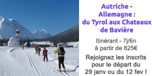 autriche-allemagne du tyrol au chateau de baviere ski de fond