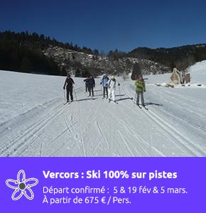 Vercors ski de fond classique 100% sur piste