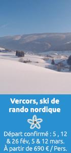 vercors, ski de rando nordique